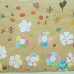 Εικ. 2: Τα λουλουδοπαιδάκια του Γ2.Στο κέντρο ο εαυτός και στα πέταλα επίθετα που τον χαρακτηρίζουν. (Ενίσχυση αυτοεκτίμησης)