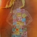 Εικ. 3: Η κυρία Φιλία, του Γ3  με φουστάνι στολισμένο από τα γεμάτα φιλία συναισθήματα των παιδιών!