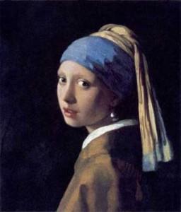 Ποιο κόσμημα μπορεί να συγκριθεί με τα μάτια του κοριτσιού, στο 'κορίτσι με μαργαριτάρι', του Βερμέερ;