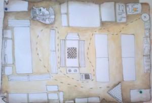 ο χάρτης- κάτοψη της αίθουσας μας που μας εισάγει στην αρχαία Αίγυπτο