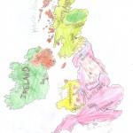 Χάρτης Αγγλίας Ελίνα 005