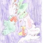 Χάρτης Αγγλίας Ελίνα 007