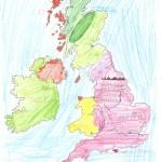 Χάρτης Αγγλίας Ελίνα