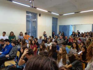 Στιγμιότυπο από το κοινό της εκδήλωσης