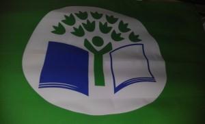 Η Πράσινη Σημαία, της  Eco Schools, με την οποία βραβευτήκαμε.