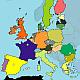 Βρείτε τις χώρες της Ευρώπης επάνω στον πολιτικό χάρτη