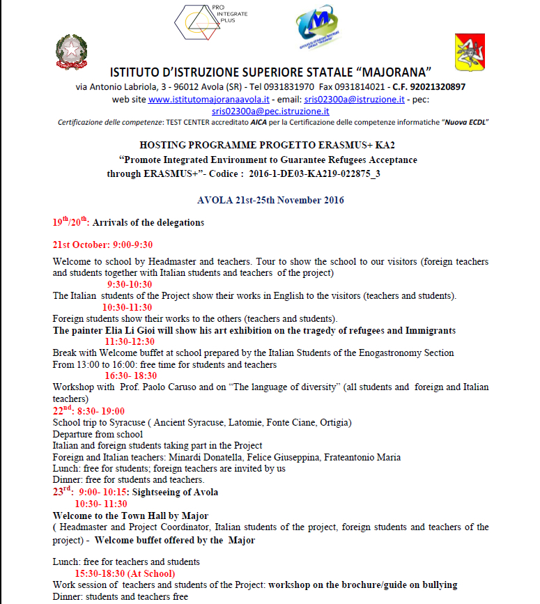 Programme 1 Avola