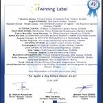 eTwinning Label για το έργο «An apple a day keeps doctor awzy»