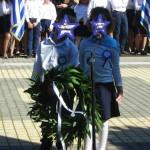 κατάθεση στεφάνου στην Πλατεία Ηρώων Γαστούνης