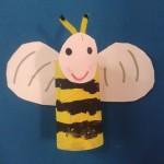 μέλισσα απο ρολό χαρτί υγείας