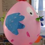 κοτούλα από μπαλόνι
