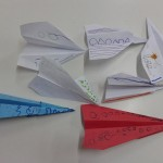 ζωγραφίσαμε χάρτινα αεροπλάνια