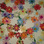 στεφανάκια με λουλούδια από λεπτό χαρτόνι