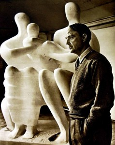 1949 Photograph of British sculptor Henry Moore