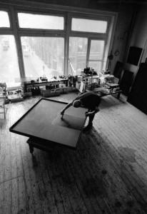 Ad Reinhardt in his Studio, New York 1966.