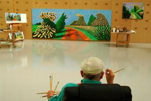 David-Hockney's-studio-–-Bedford-Corners-New-York