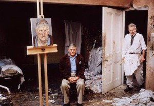 David Hockney painted by Lucian Freud