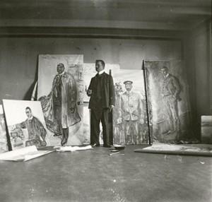 Edvard Munch, Self-Portrait in the Studio at Skrubben in Kragerø 1909-10
