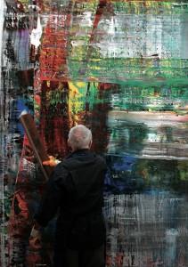 Gerhard Richter -art in the making