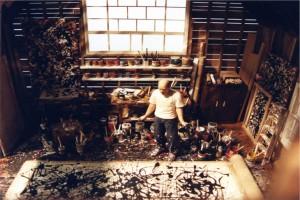 Jackson-Pollock's-studio-–-East-Hampton-New-York