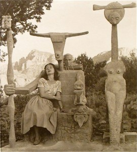 Max Ernst and Dorothea Tanning in Sedona, Arizona, 1948