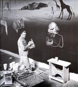 Salvador Dali working