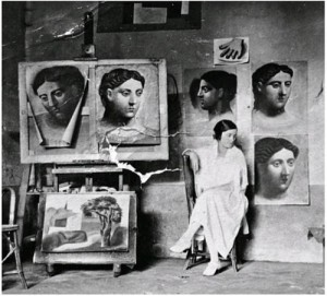 in Picasso's studio Olga Khokhlova (June 17, 1891 – February 11, 1954)