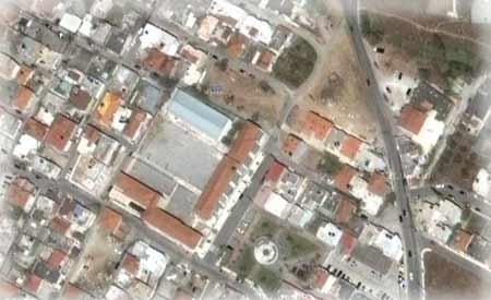 Δορυφορική φωτογραφία του 5ου Δημοτικού Πολίχνης