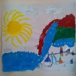 Ζωγραφίσαμε το ταξίδι της σταγόνας , βράσαμε το νερό ,είδαμε την εξάτμιση , την υγροποίηση , κάναμε το νερό παγάκι και ξανά νερό