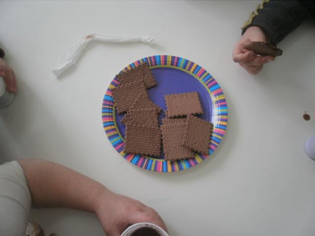 Το συνοδεύσαμε με μπισκότα σοκολάτας