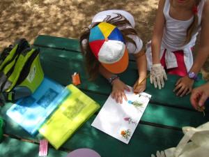 Teams prepare their plant sheets