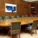 Αίθουσα συνεδρίασης του υπουργικού συμβουλίου.