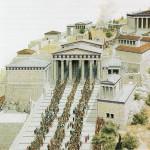Αναπαράσταση των μνημείων του Ιερού Βράχου -3-