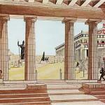 Αναπαράσταση των μνημείων του Ιερού Βράχου -2-