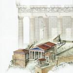 Αναπαράσταση των μνημείων του Ιερού Βράχου -1-