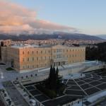 Πανοραμική φωτογραφία του Κοινοβουλίου.