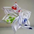 αστέρι απο ζωγραφισμένο χαρτί
