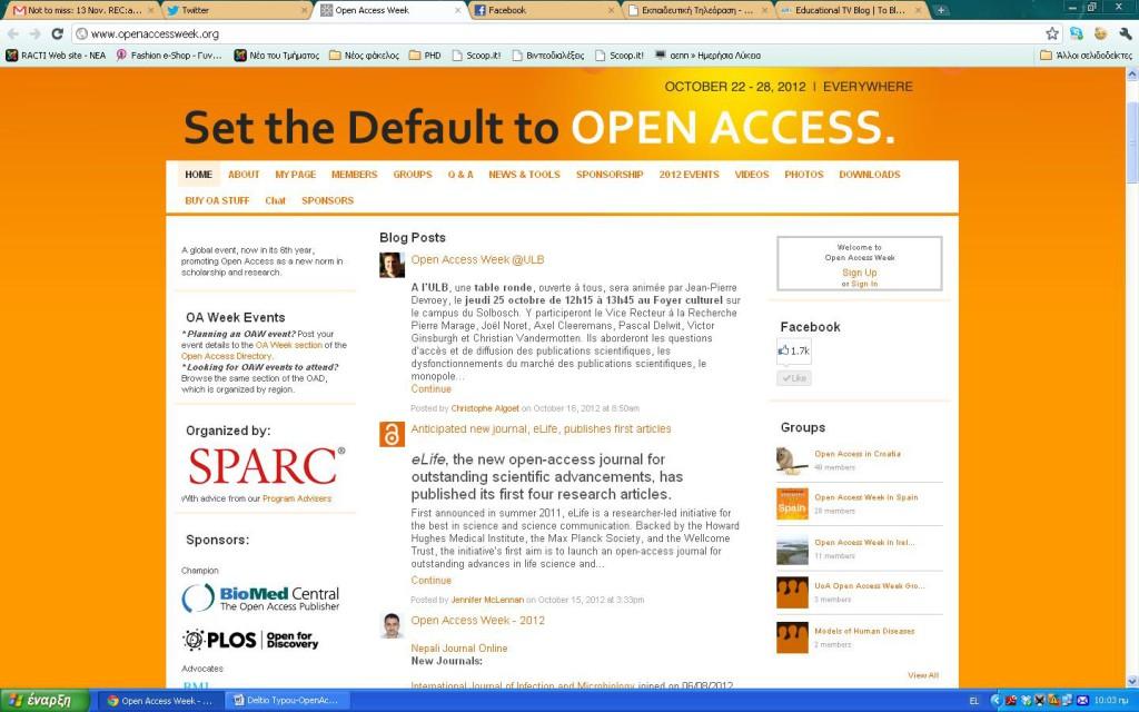 openaccess 1024x640 Εβδομάδα Ανοιχτής Πρόσβασης