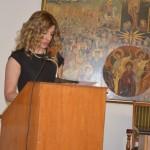 Εκφώνηση λόγου υποδοχής από τη Διευθύντρια του Δημοτικού Σχολείου Ακρινής -Μαρίνα Χαρισοπούλου