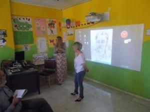 Οι δασκάλες Δέσποινα Μπομπόλη και Νίκη Μιχούλη