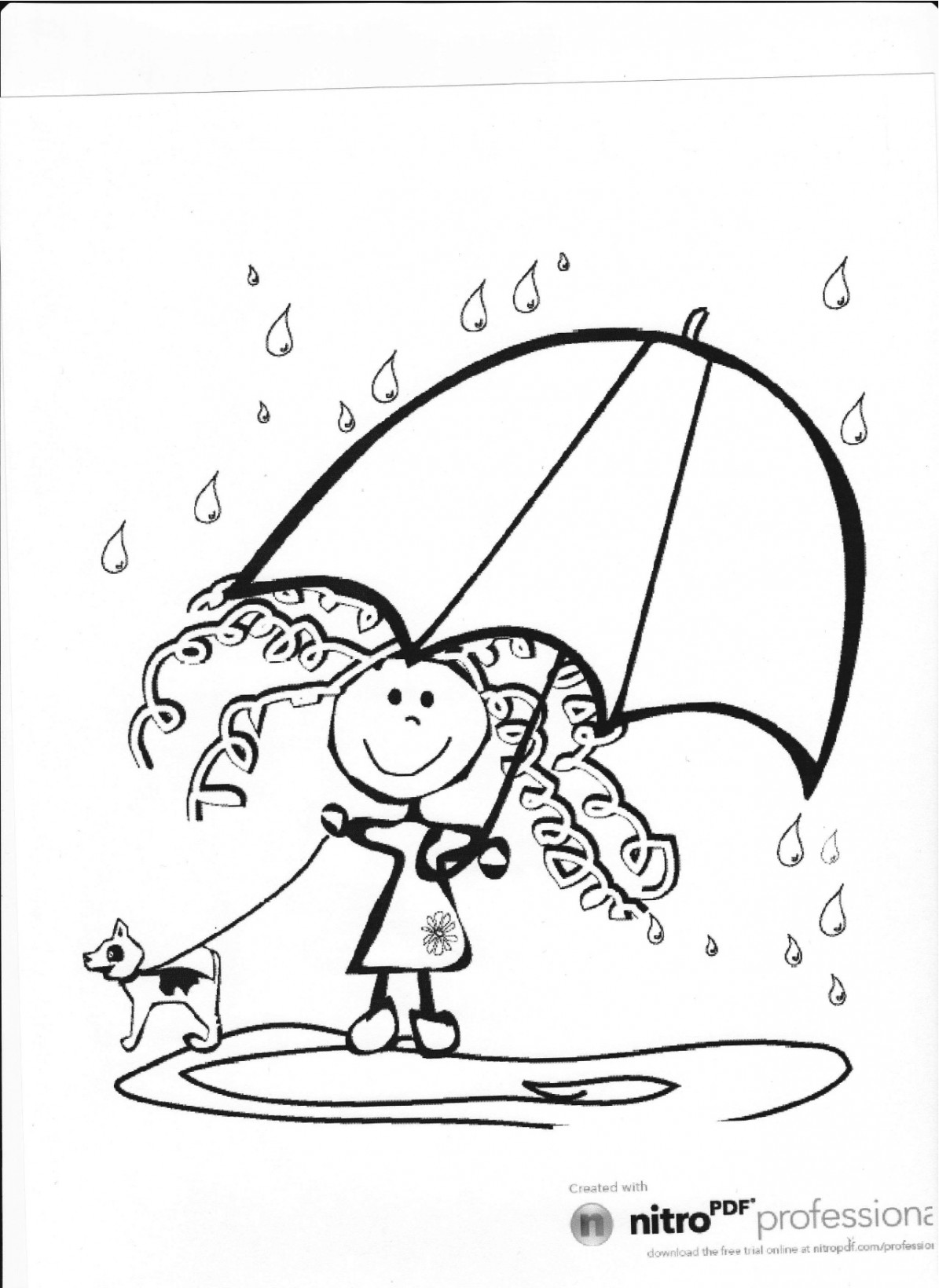 raining day coloring pages - photo#28