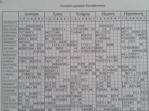 Ωρολόγιο Πρόγραμμα(10-02-17)