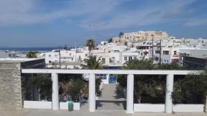 Μερική άποψη του Κάστρου της Χώρας όπως φαίνεται από το σχολείο μας