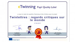 label eleve Twinlettres