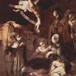 Caravaggio, 1609, The Nativity with Sts Francis and Lawrence