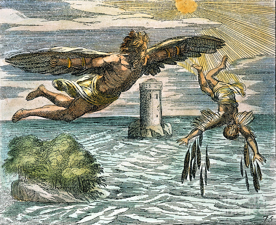 an analysis of the myth of daedalus and icarus Daedalus and icarus from bulfinch's mythology: the age of fable the labyrinth from which theseus escaped by means of the clew of ariadne, was built by daedalus, a most skilful artificer.