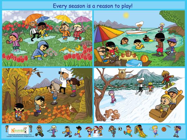 Seasons : our english class