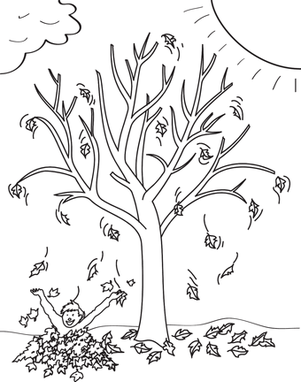 for Fall trees coloring pages