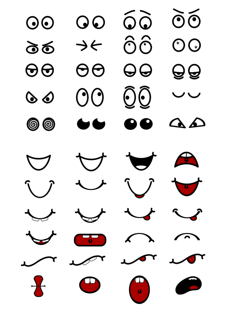 cartoon-mouth-n-eyes-NM44gH-clipart