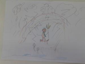 Ποσειδώνας στη θάλασσα με την τρίαινά του